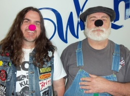 Brad Posey & Microwave Dave, clowning at WLRH!